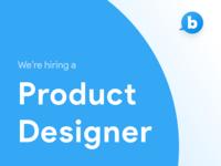 Hiring Product Designer 🖋️