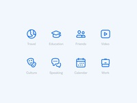 Education icons icon languages icon set busuu design icons glyph
