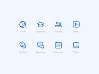 Education icons icon languages icon set busuu design icons glyph