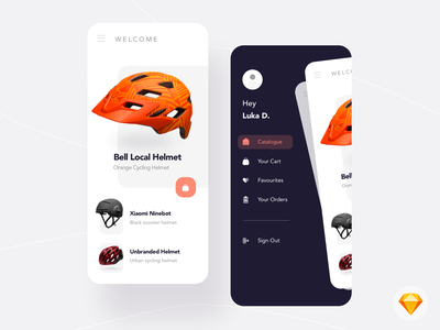 DAY 02  - Helmet Shopping App e-commerce app e-commerce shopping app shopping app ios dailyui download sketch free