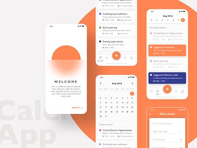 DAY 03 - Calendar App orange branding design free freebie sketch app ios dailyui calendar