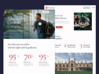 Practice University Website university practice website website design