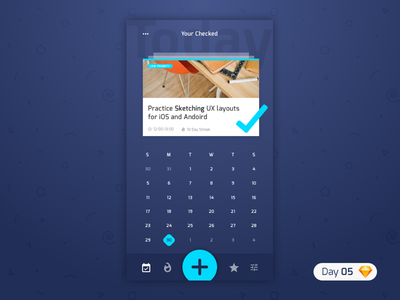 #05   Productivity App   .sketch blue app productivity dailyui challenge daily ui iphone ios typography free freebie