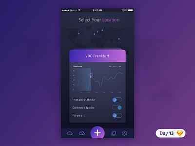 #13 | Cloud App Dashboard | .sketch icon ios purple cloud app free freebie sketch download dailyui daily ui