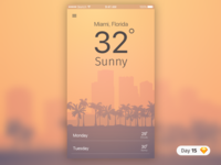 #15 | Hot Weather App | .sketch