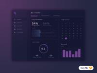 #16   Desktop Dashboard   .sketch daily ui dailyui download sketch freebie free app cloud purple ios icon