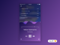 #17 | Music Player UI | .sketch