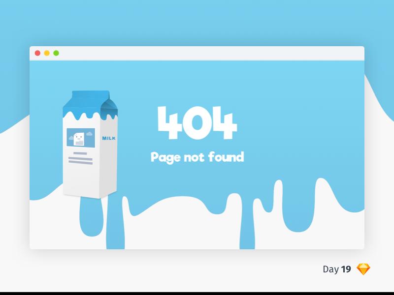 #19 | 404 Page Not Found | .sketch daily ui dailyui download sketch freebie free comic page not found blue 404 milk carton