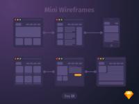 #22 | Mini Wireframes | .sketch