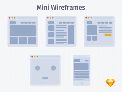 Mini Wireframes White | .sketch