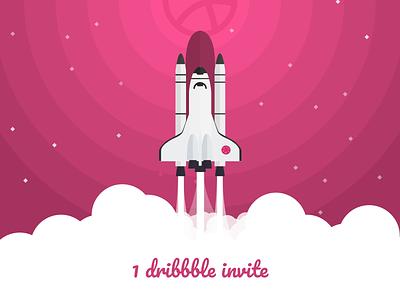 Dribble Invite invites giveaway invite dribbble invite shuttle space cosmos