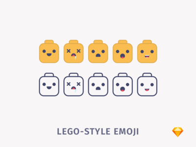 Lego-style Emoji | .sketch