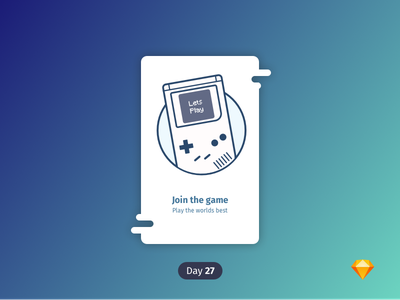#1 | Gameboy | .sketch dailyicon daily icon gameboy nintendo icon games free freebie sketch download