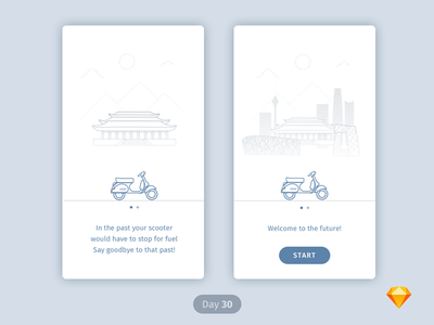 #30 | On-boarding Screens | .sketch on boarding beijing china daily ui dailyui free freebie sketch download