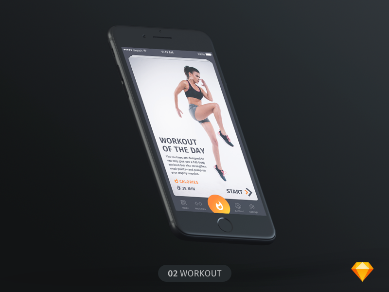 Wokout of the day | Daily UI | .sketch
