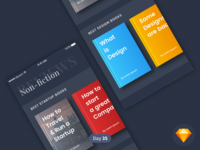 Books Curated | Daily UI | .sketch