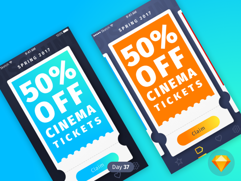 Coupons | Daily UI | .sketch