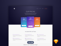 Pricing Table | Daily UI | .sketch
