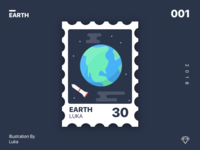 Earth Stamp illustration friable free sketch stamp