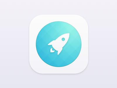 Minimal Rocket Icon rocket download freebie sketch minimal home-screen ios icon