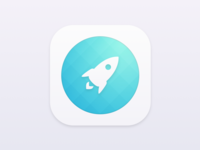 Minimal Rocket Icon