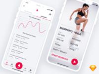 Fitness App - Sketch
