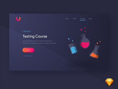 Course Website | Sketch learning course website mock sketch
