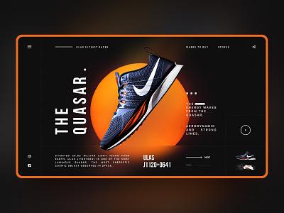 Hello Dribbble! typography nike orange black and red web ux ui web design ui design concept design landing page design
