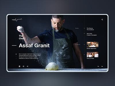 Assaf Granit typography ux ui design web design web chef concept design design landing page ui