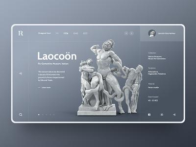 Laocoön rome statue modern layout web design typography ui web ux ui design landing page design concept design