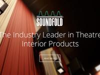 Website redesign concept for Soundfold
