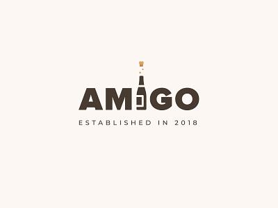 Amigo Logo illustration vector branding logo mobile app ux ui flat design