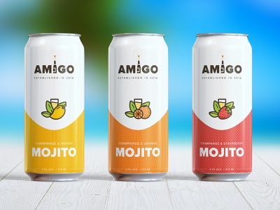 Amigo Mojito mojito drink can branding design ux ui