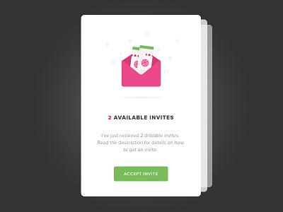 Dribbble Invites mobile flat ux ui design cards invite dribbble