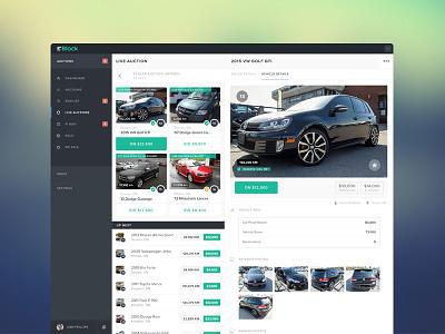 Web Live Auction ux ui app web flat design vehicles auction