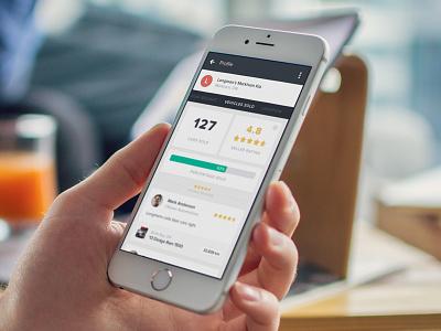 eBlock - Profile View profile ux ui app mobile flat design
