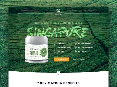 Landing Page - Matcha Tea tea matcha ux ui landing page website flat design