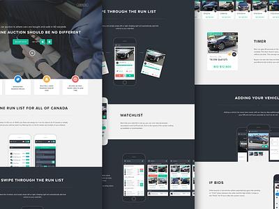 Eblock Landing Page landing page automotive auto ux ui app mobile flat design