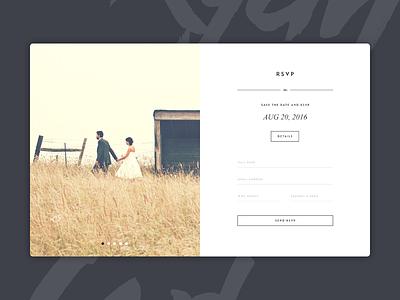 Wedding RSVP form ghost buttons minimalist website design rsvp wedding
