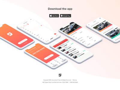 Guaranteed Trade Landing Page gradient trade value guaranteed trade vehicle ux ui app design mobile