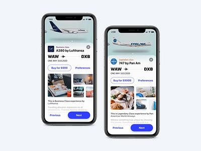 Book your experience - Flight app lufthansa emirates pan am booking ios mobile app animation interaction flight app