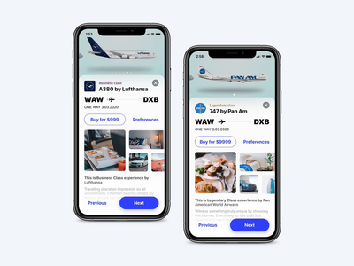 Book your experience - Flight app
