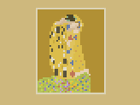 Art in pixels: The Kiss klimt 8bit art art nouveau pixel art pixelartist