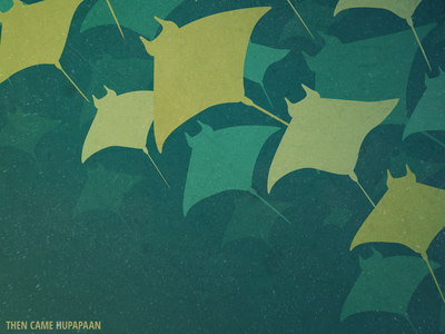 Then Came Hupapaan aquatic illustration simple vector cover art design digital