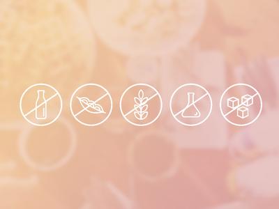 Alergen Icons design digital food minimalistic vector packaging design alergen icons