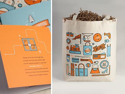 Holiday Kit self promotion illustration print shopping bag tote card