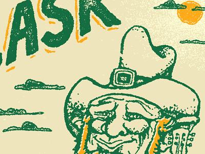 Brassflask leprechaun poster illustration texture