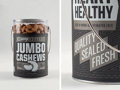 Nut Label label cashews screenprint metallic