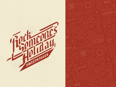 Rock Someone's Holiday christmas line pattern blackletter