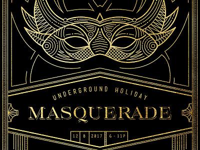 Masquerade Holiday Invite illustration mask vector invite masquerade